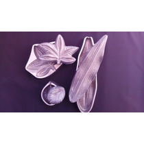 Kit Orquídea Em Alumínio Fundido E Polido