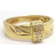 Joalheriavip Anel Aparador Aliança E Diamantes Ouro 18k