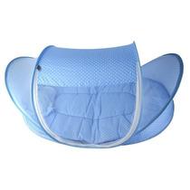 Mosquiteiro Portatil Acolchoado C/ Ziper Azul Mosqueteiro