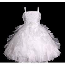 Vestido Infantil Festa/ Princesa/dama Aplicação Strass