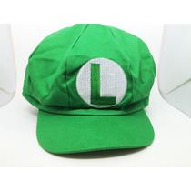 Boné, Boina Super Mario Bros Luigi Cosplay Pronta Entrega