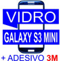 Tela Vidro Samsung Galaxy S3 Mini I8190 Azul + Dupla Face 3m