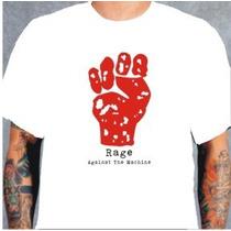 Camiseta Rage Against The Machine Branca