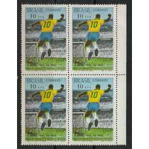 C- 558 - Pelé -quadra C/ 4 Selos Do 1.000 Gols De Pelé