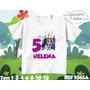 Camiseta Infantil Frozen Galinha Pintadinha Aniversário