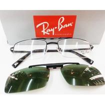 Oculos Armação De Grau Rb8569 Clip On Polarizado 4 Cores