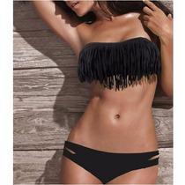Biquíni/bikini Com Franja Pronta Entrega