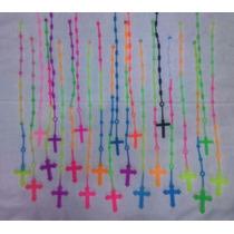 Kit 10 Novo Terço Colorido Pulseira Silicone Borracha Latex