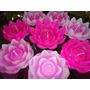 20 Velas Flutuantes Para Piscina, Flor De Lotus, Chama Alta
