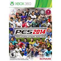 Pes 2014 Xbox 360 Lacrado Mídia Física Microsoft