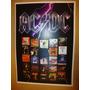 Poster Ac/dc Com A Discografia Completa Rock (frete Grátis)