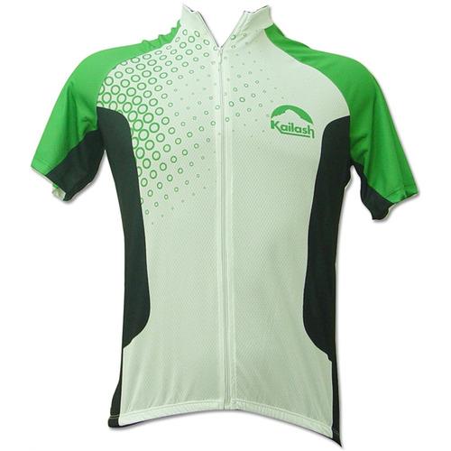Camiseta Bike Ride Full Branca / verde - Kailash - P