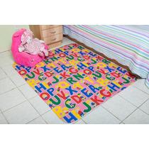 Tapete Tecil Infantil Pracinha Alfa Rosa