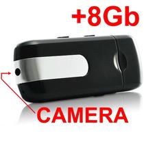 Pendrive Espião Camera Espiã 8gb Filma Sensor Movimento Foto