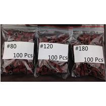 100pcs Refil Para Lixa Eletrica Bits 80mm 120mm 160mm Cada