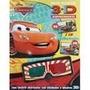 Livro Especial Carros Atividades Adesivos E Óculos 3d Disney