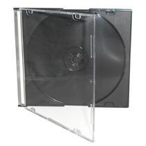 50 Caixas Acrilicas Slim Para Cd / Dvd Preta / Transparente