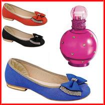Sapatilha Feminina Estersoft Luxo Grátis Perfume Fantasy