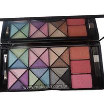 Maquiagem Paleta Sombra 3d Kit Blush Jasmyne Maleta V911
