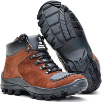 Bota Coturno Adventure Couro Stilo Macboot Lobo Da Montanha