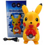Caixa Som Led Portatil Bluetooth Pikachu Mp3 Rádio Fm Sd Usb