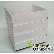 Caixa/vaso/cachepo Mdf Com Espelho - Com Rodinhas - 40x40