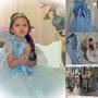 Fantasia Frozen Princesa Elsa Com Sapatilha Bailarina!!!
