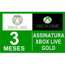 Xbox Live Gold 3 Meses Br Usa Xbox 360 One Envio Imediato!!