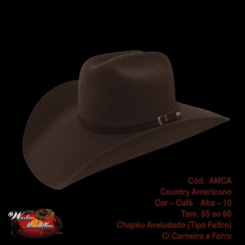 Chapéu Cowboy Country Australiano Masculino Feminino Festa - R  69 ... fd1e7955070
