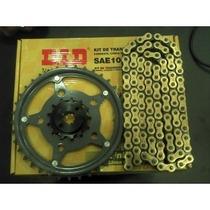 Kit Relação Did Gold Honda Cbx250 Twister C/retentor Dourada