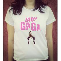 Babylook Camiseta Estampada Lady Gaga Artpop