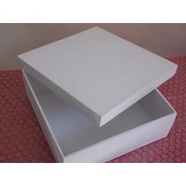 Kit Com 12 Caixas Em Mdf Pintada Em Branco Pronta P/ Decorar
