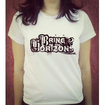 Babylook Camiseta Estampada - Bring Me The Horizon - Oliver