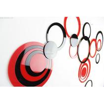 Acrílico Decorativo Conjunto 10 Peças Cores Variadas Espelho