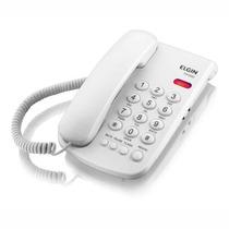 Telefone De Mesa Com Fio Branco Elgin Tcf2000