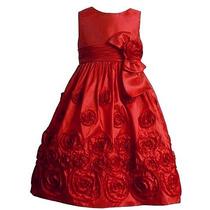 Vestido Infantil Bonnie Jean Vermelho 2t