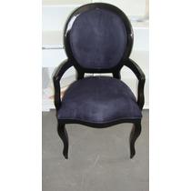 Cadeira Medalhão Lisa Com Braço