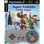 Controle Snes Usb Pc + Emulador Super Nintendo +7784 Patches