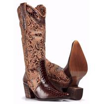 Bota Feminina Country Texana - Anaconda - Capelli Boots