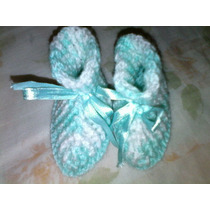 Sapatinho De Bebê Recém Nascido Crochê Lã 100% Anti Alergica