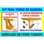 Kit Para Torno De Madeira