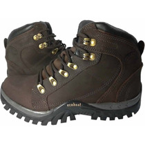 Bota Coturno Adventure Trekking Couro Palmilha Gel Anatomic