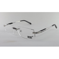 Armação Óculos Grau De Grau Sem Aro Mont Blanc 0349