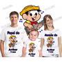 Kit Camisetas Personalizada Aniversario Chico Bento Com 3