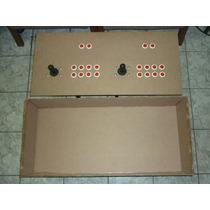 Caixa Mdf Para Multijogo, Controle Arcade 2 Jogadores