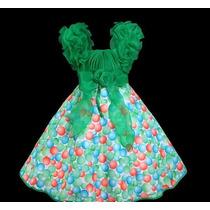 Vestido Infantil Princesa/festa Estampa Bolinhas