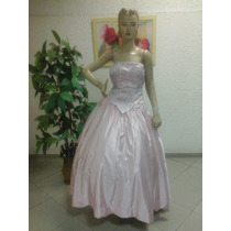 Vestido De Debutante Formatura Tipo Corpete Em Rosa Df110