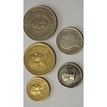 Conjunto De 5 Moedas De Peso Uruguaio - Uruguai