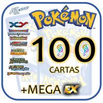 Lote 100 Cartas Pokémon Xy Com Mega Ex Garantida! Português