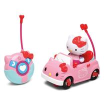 Carrinho De Controle Remoto Hello Kitty Auto Fofura Dtc 3190